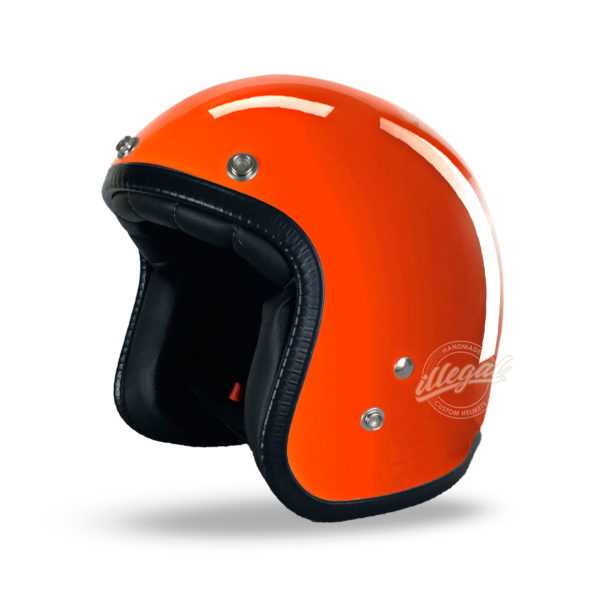 casco moto polish orange