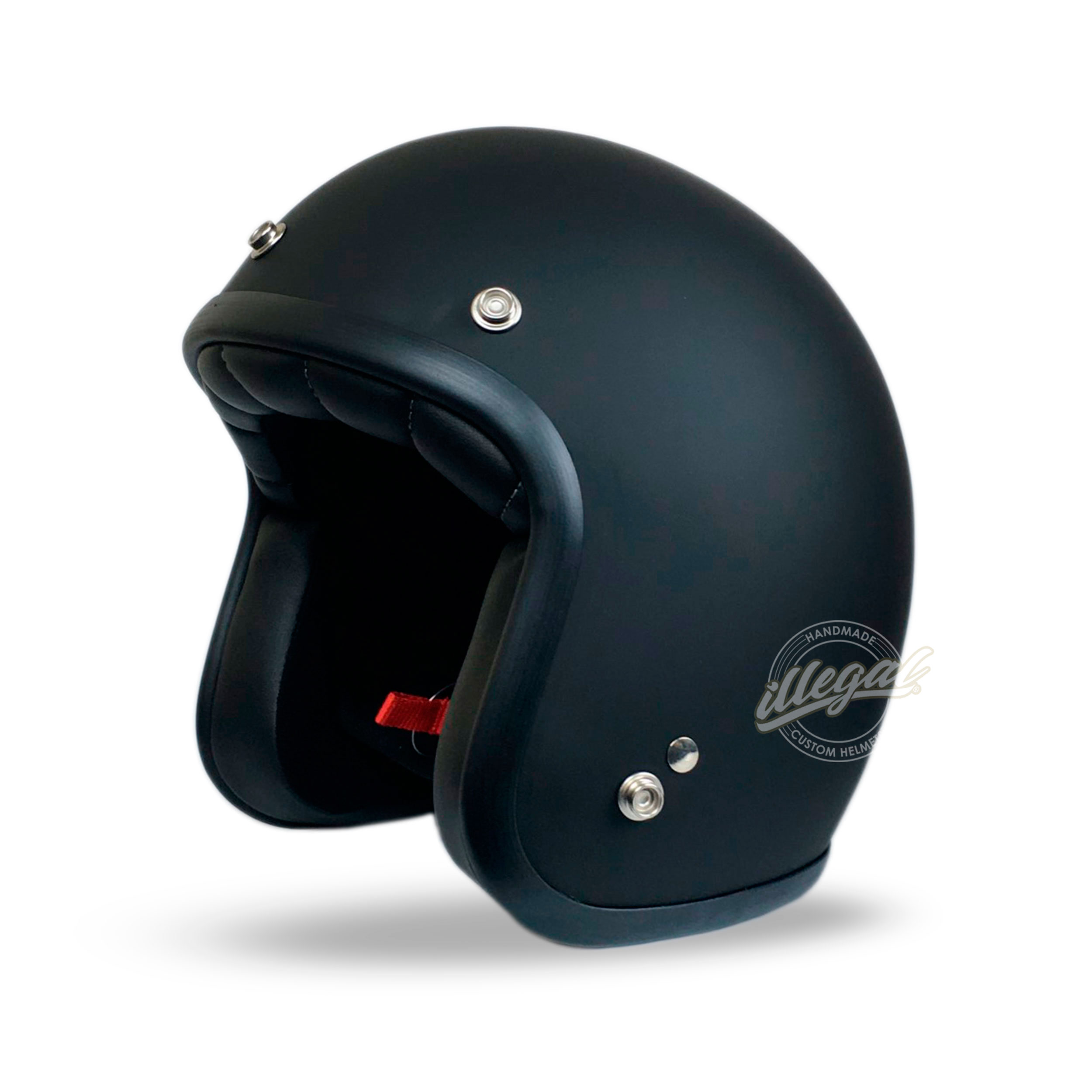 casco moto scooter nero opaco