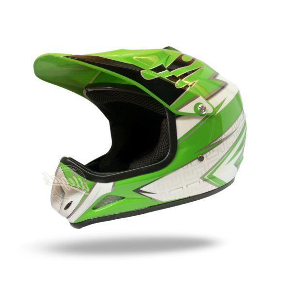 casco motocross bambino verde